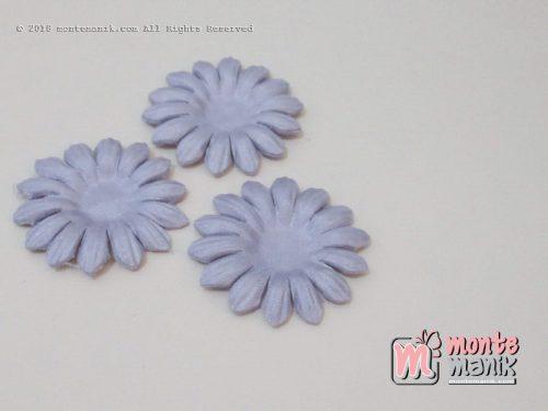 Per 10 lembar Aplikasi Bunga matahari 4 cm Ungu (APB-074)