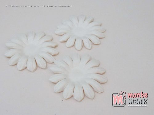 Per 10 lembar Aplikasi Bunga matahari 4 cm putih(APB-073)