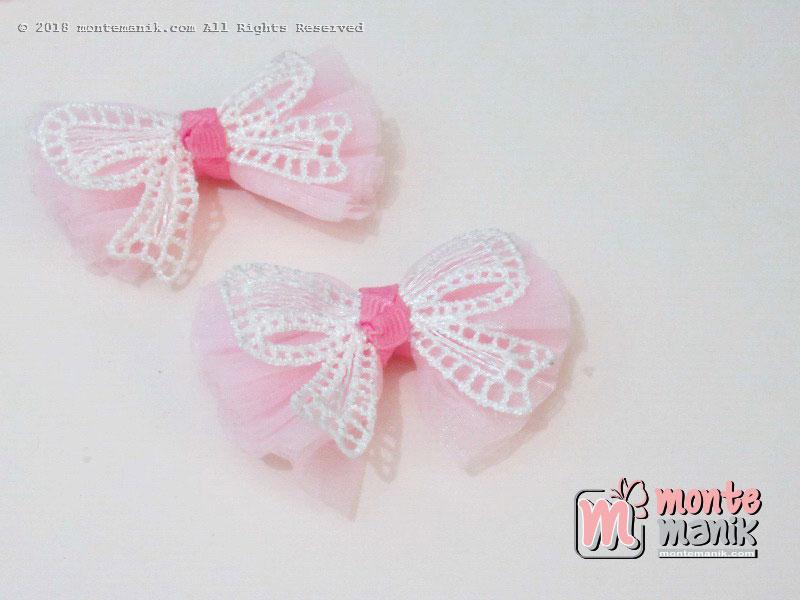 Per biji Aplikasi Pita organdi pink 5 cm (APP-019)