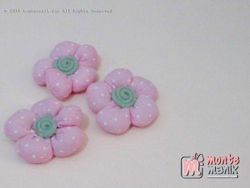 Perbiji Aplikasi Bunga Kapas pink 3,5 cm (APB-068)