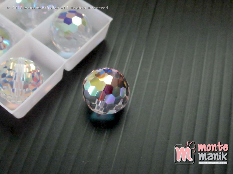 1 Pcs Kristal Swarovsky Faceted Chessboard 12 mm Crystal AB 5005