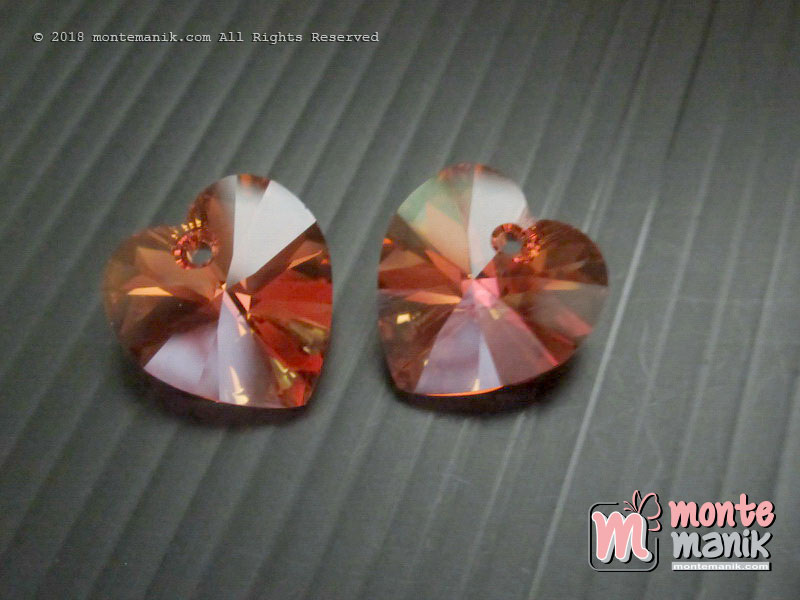 1 Pcs Kristal Swarovsky Heart Pendants 14 mm Astral Pink AB 6228