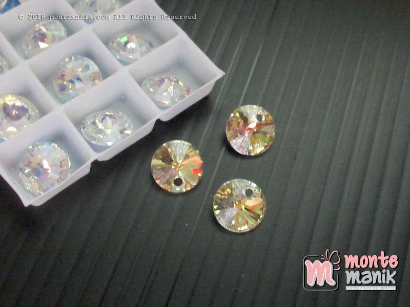 1 Pcs Kristal swarovsky Xilion Pendants 8 mm Crystal Clear AB 6428