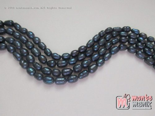 1 String Mutiara Air Tawar Hitam 6-7 mm (MAT-01)