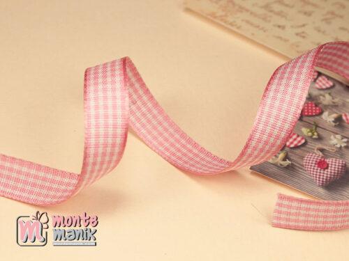 1 Yards Pita Gingham Pink Putih 1 cm (PITA-235)
