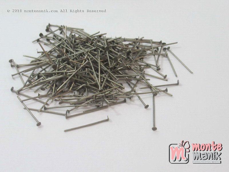 20 gr Head Pin atau Paku Mati Hijau Bakar 3 cm (PAKU-011)