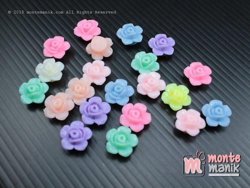12 Pcs Manik Plastik Bunga Mawar 10 mm (MPA-031)