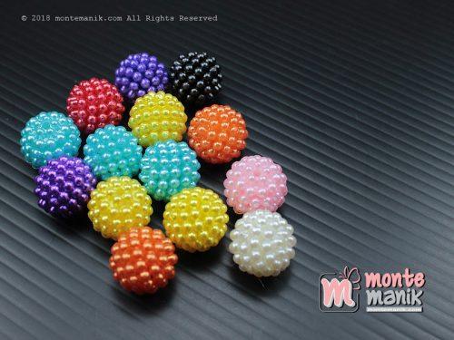 12 Pcs Manik Plastik Mutiara Berry 14 mm (MPA-063)