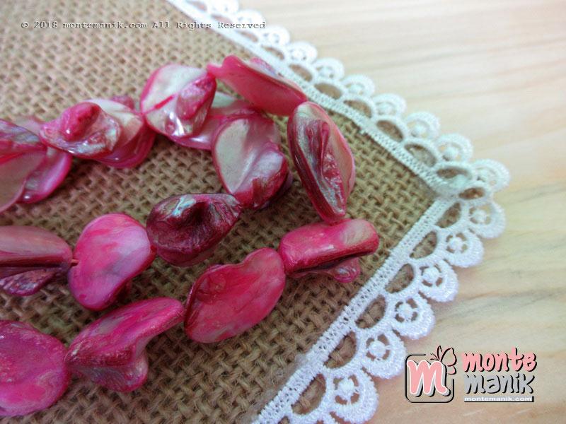 12 Pcs manik kerang nugget Pink (MNKG-016)