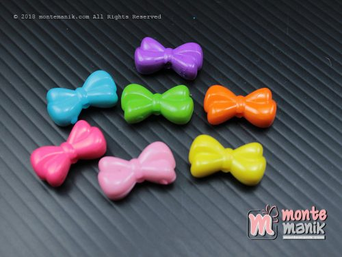 14 Pcs Manik Plastik Pita 8 x 15 mm (MPA-065)