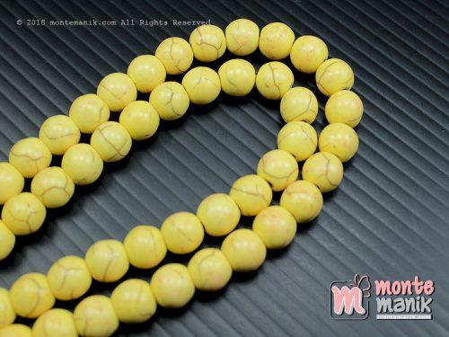 24 Pcs Manik Batu Phyrus 8 mm Kuning (BTA-01)