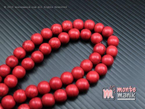 24 Pcs Manik Batu Phyrus 8 mm Merah (BTA-04)