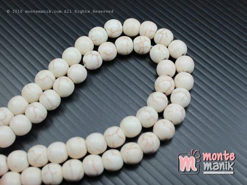 24 Pcs Manik Batu Phyrus 8 mm Putih (BTA-05)