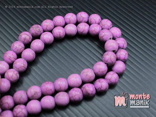 24 Pcs Manik Batu Phyrus 8 mm Ungu (BTA-03)