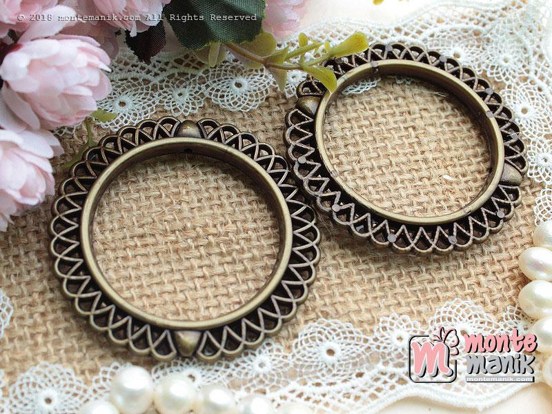3 Pcs Manik Ring Plastik Bronze 4,5 cm (MPA-081)