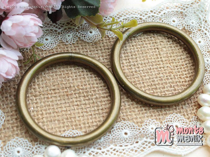 3 Pcs Manik Ring Plastik Bronze 5,5 cm (MPA-080)