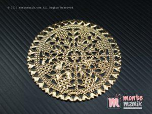 3 Pcs Ornamen Plat Emas 6 cm (OLT-033)