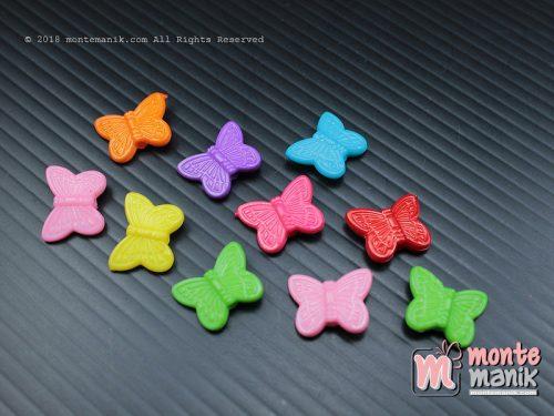 35 Pcs Manik Plastik Kupu-kupu 10 x 15 mm (MPA-062)