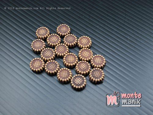 35 Pcs manik plastik bunga 10 mm Coklat (MPA-078)