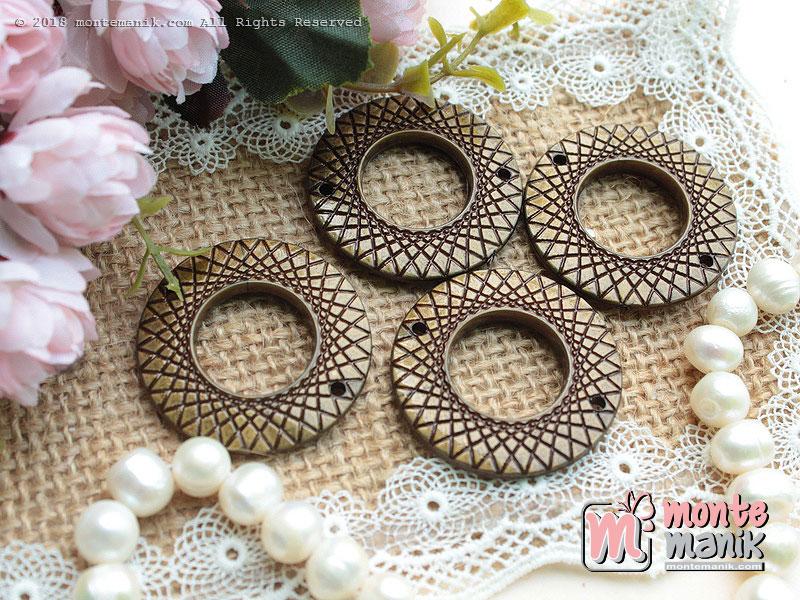 4 Pcs Manik Ring Plastik Bronze 3,5 cm (MPA-082)