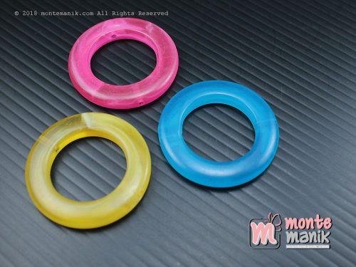 5 Pcs Manik Plastik Donat 3,5 cm (MPA-02)