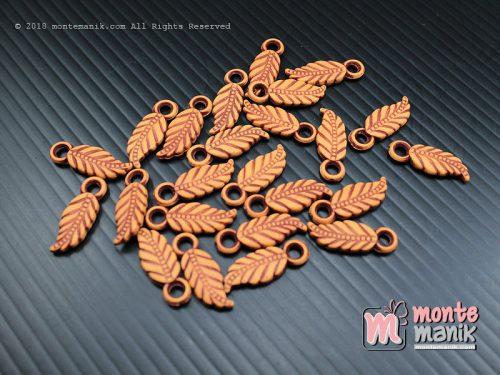 60 Pcs Manik Plastik Corak Kayu 8 x 14 mm (MPA-053)