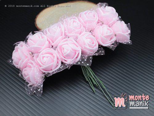 1 Ikat Aplikasi Bunga Spon Pink Muda (APA-06)