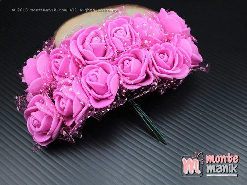 1 Ikat Aplikasi Bunga Spon Pink Tua (APA-08)