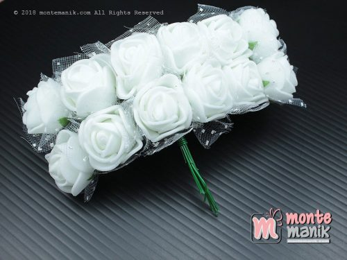 1 Ikat Aplikasi Bunga Spon Putih (APA-07)