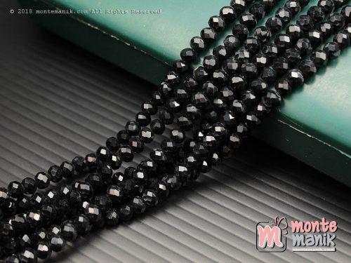 1 String Kristal Ceko Rondelle Dove Hitam 4 mm (KRISTAL-084)