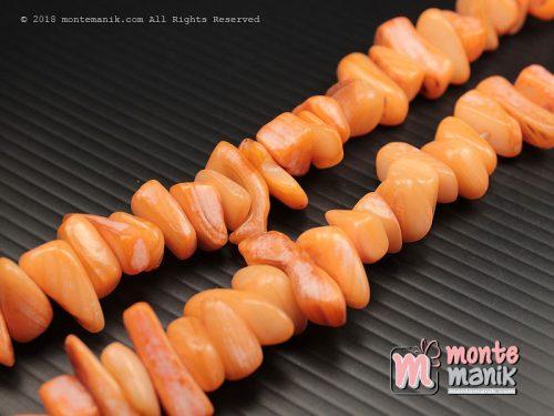 1 String Manik Kerang Kerikil Orange (MNKG-028)