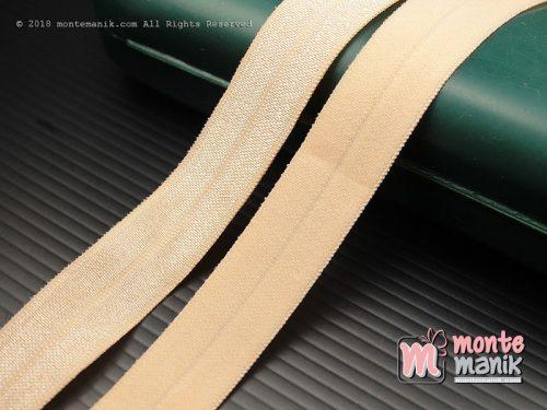 1 Yards Pita Elastis Glossy 1,5 cm Peach (ASE-010)
