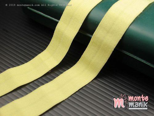 1 Yards Pita Elastis Matte 1,5 cm Kuning (ASE-015)