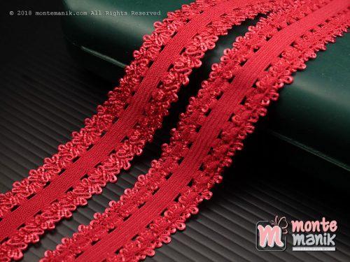 1 Yards Renda Elastis 2 cm Merah (ASE-024)