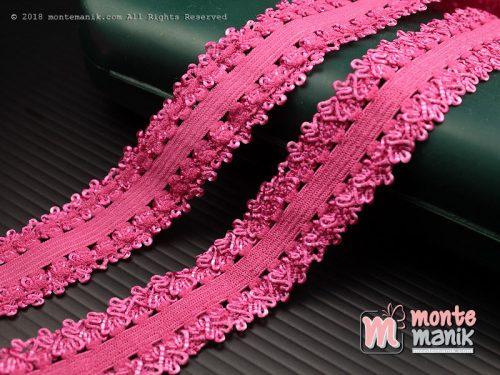 1 Yards Renda Elastis 2 cm Pink Fanta (ASE-022)