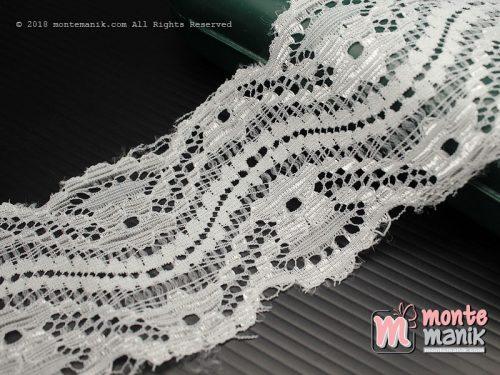 1 Yards Renda Elastis Putih 5,5 cm (ASE-032)