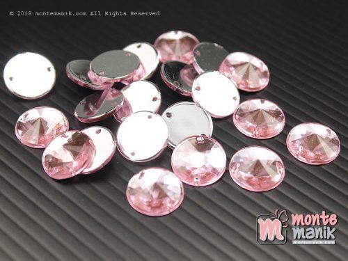 10 Pcs Rhinestone Rivoli Sew on 12 mm Pink (DMD-056)