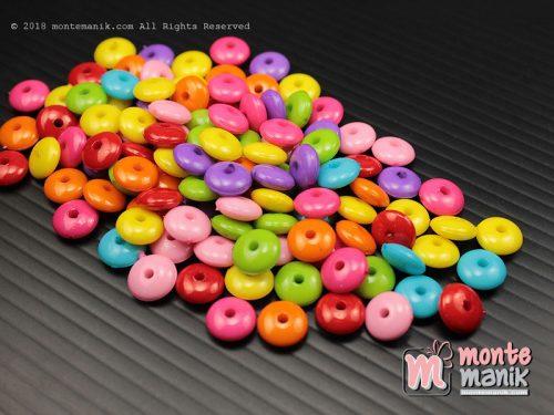 100 Pcs Manik Plastik Gepeng 8 mm (MPA-0132)
