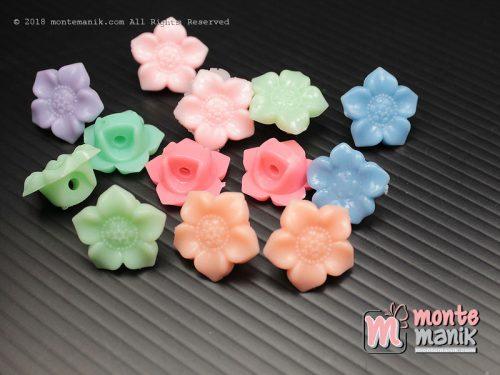 15 Pcs Manik Plastik Bunga 16 mm (MPA-0151)