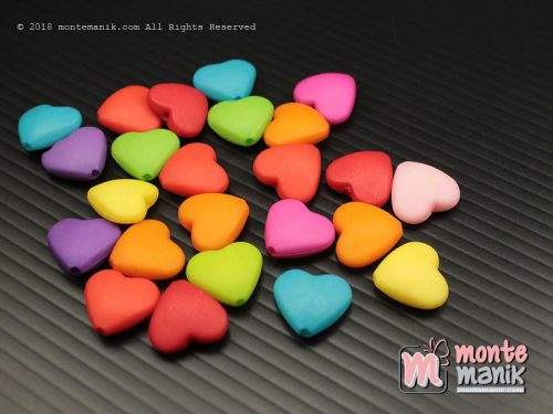 24 Pcs Manik Akrilik love 12 mm (MPA-0165)