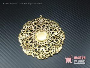 3 Pcs Lempengan Plat Bundar Emas 5 cm (OLT-049)