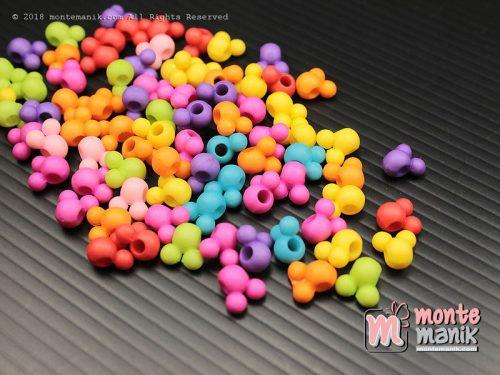 50 Pcs Manik Akrilik Mikey 6 mm (MPA-0166)