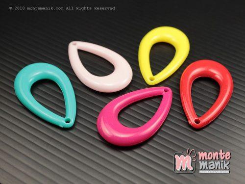 8 Pcs Manik Plastik Tetes 2 x 3 cm (MPA-0143)