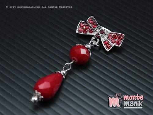 Bros Dagu Kristal Ceko Dove Merah (PDL-0108)