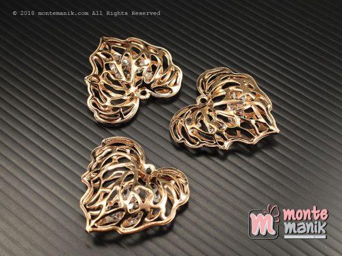 1 Pcs Charm Daun Emas 3 x 3 cm (ALA-060)