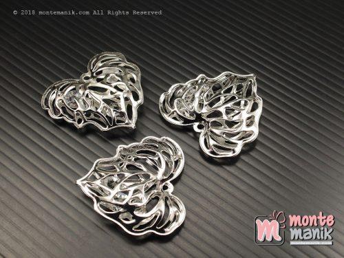 1 Pcs Charm Daun Nikel 3 x 3 cm (ALA-058)