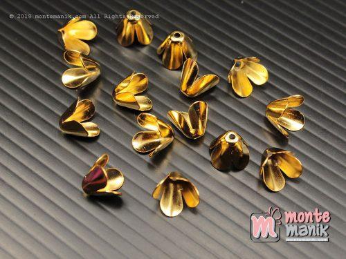 10 Pcs Cangkang Bunga Emas 10 mm (CKB-042)