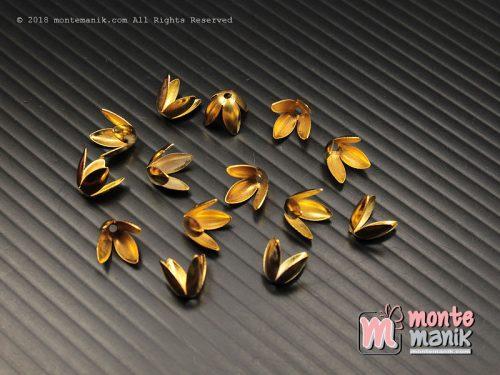 12 Pcs Cangkang Bunga Emas 8 mm (CKB-040)