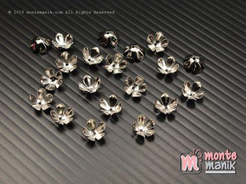 12 Pcs Cangkang Bunga Nikel 8 mm (CKB-041)