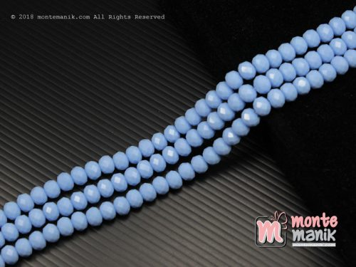 36 Butir Kristal Ceko Roundell Dove 8 mm Biru Lavender (KRISTAL-098)